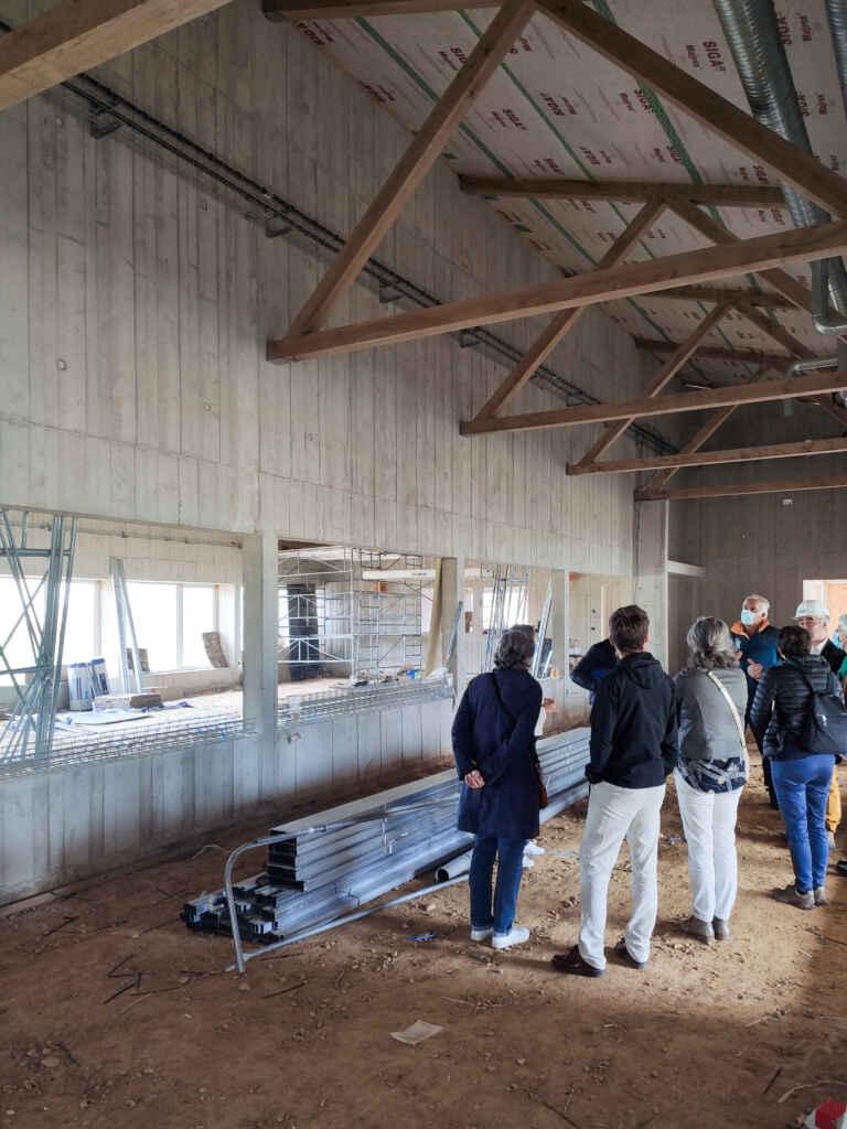 Visite du chantier de l'ensemble communal d'Iville